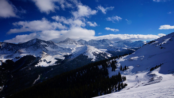 View from atop Copper Mountain, Colorado.