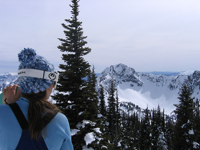 Jenny looking out toward Crystal Lakes. If only we had most of the day to hike out there......