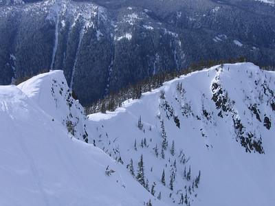 Looking back along the ridge toward little AK