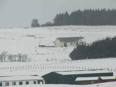 Farm buildings adjacent to the B788 between Greenock and Kilmacolm