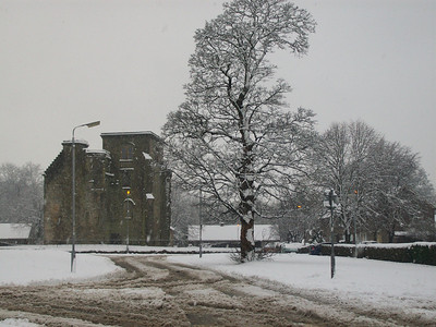 Johnstone Castle as seen from Hazel Avenue