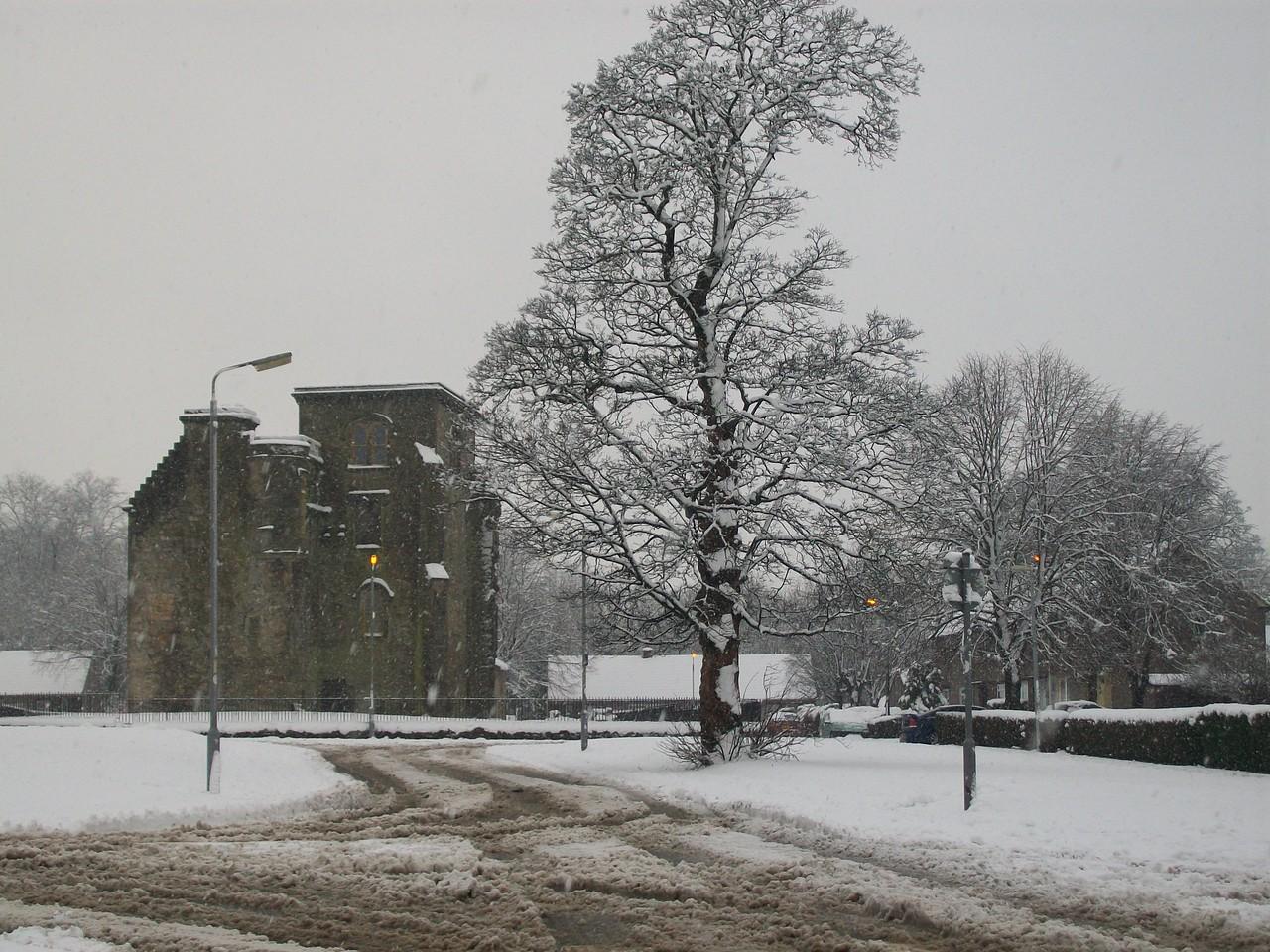 Johnstone Castle as seen from Hazel Avenue