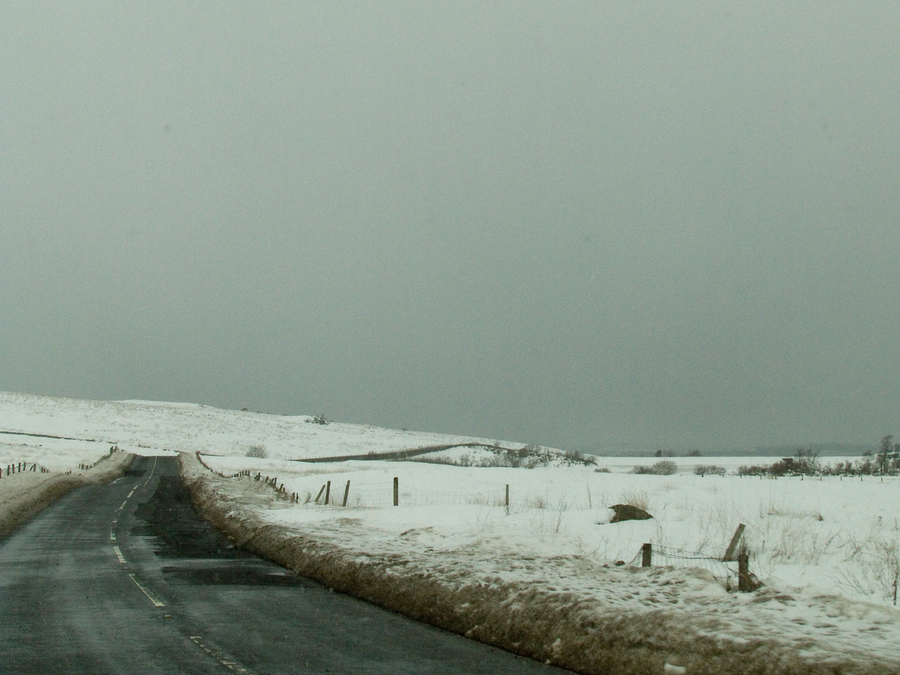 Knocknairshill Reservoir, seen from the B788