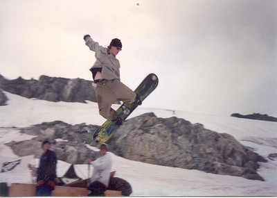 Montana represent!! Cowboy style on the glacier in Blackcomb, BC.