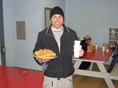 Have you ever seen a guy this excited about a double burger?