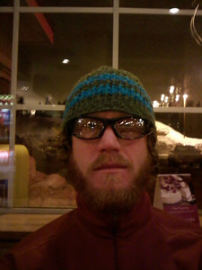 Serious Jesse - waiting for some serious pancakes at the Pancake house at the pass after a night of snowboarding