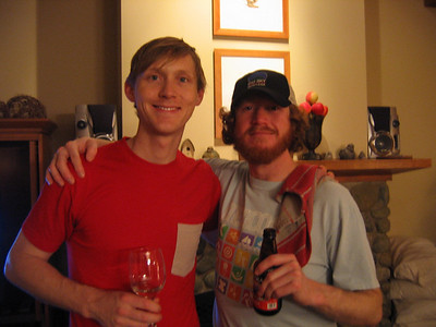 Joel and Jesse. Dude I think there is something wrong with your wine glass Joel.