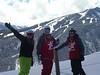 Rachel, Garrett and Devon at the top of Buttermilk w/ Aspen Highlands in the background.
