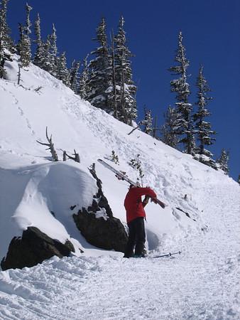 Skiing Between the Rocks w Steve