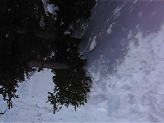 Rather gnarly one footed traverse on teh way to the King.