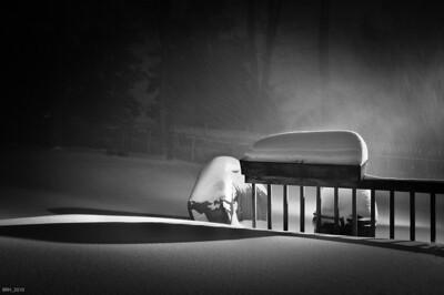 Winter Night in Black & White  Dec 2010