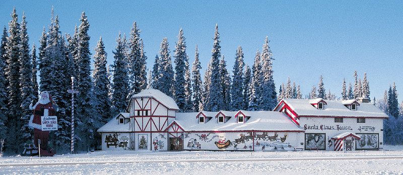 Credit: Santa Claus House<br /> <br /> The Santa Claus in North Pole, Alaska.