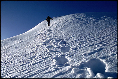 January 22, 2004; Grand County, CO, USA; Minnesota mountaineer Paul Delmaine leads a summit push to 13, 391 ft. (4,082 m) Parry Peak  in Grand County, Colorado on a windy Winter morning.  The peak marks the highest point of the Continental Divide Trail.