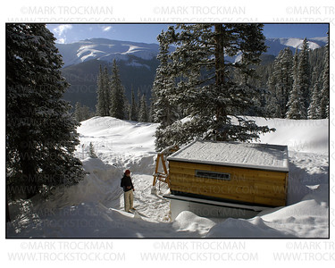 Powder Day!  Michael Goulette enjoys a cup of joe before hitting the Berthoud Pass (Colorado) backcountry • 2004