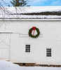 White Barn w wreath,close upNJ_12-18-20_9684©DonnaLovelyPhotos com -