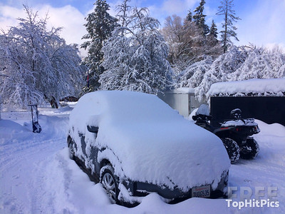 Snowy Scenes in Troy, Montana, USA