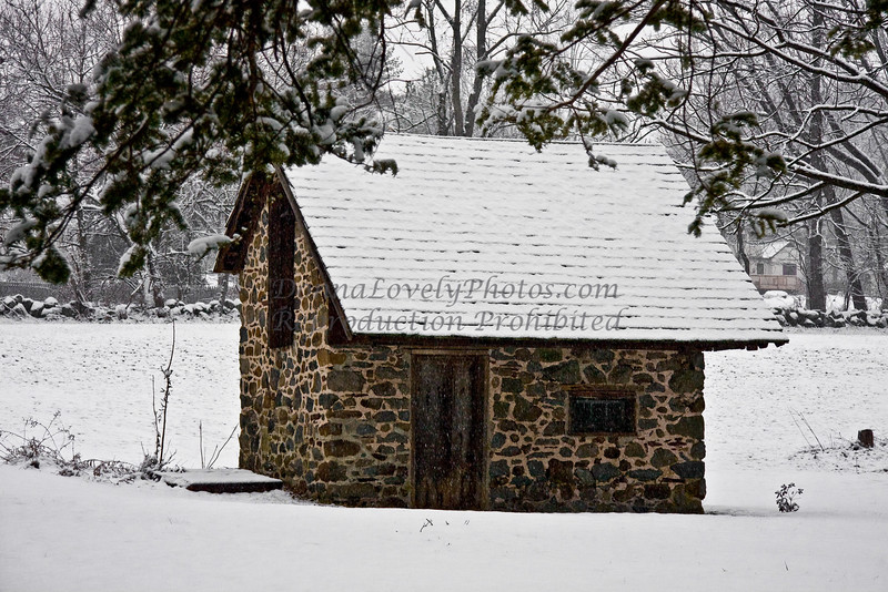 Spring House in Snow, Bucks County, PA_DonnaLovelyPhotos com 300p-7227