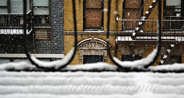 From My Fire Escape - Arches in the Snow