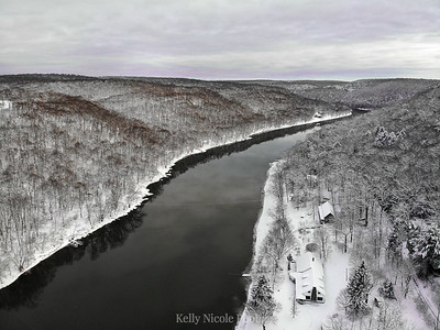 Winter on the River, purple hues