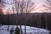 Vermont Frozen Pond at Dusk