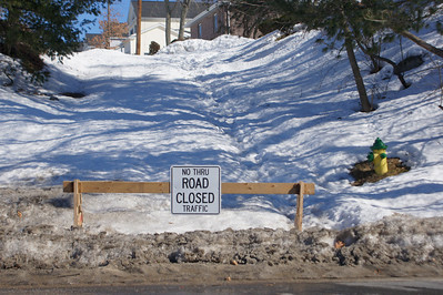 No Go Thanks to Snow: Apparently the town threw in the towel and won't plow this street anymore.