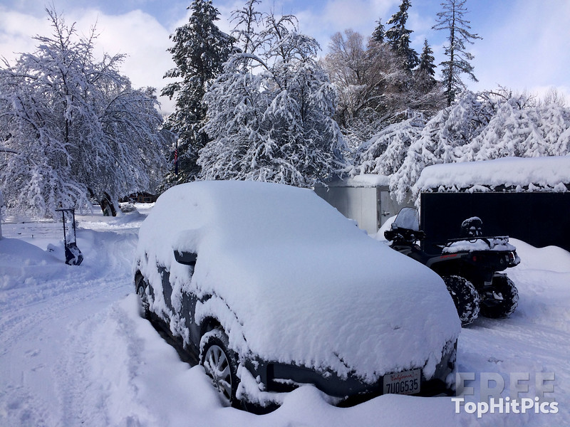 A Snowed Under SUV in Troy, Montana