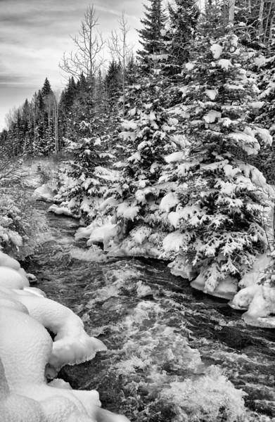 Colorado stream in winter