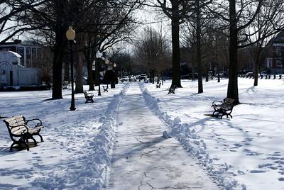 A frozen walkway