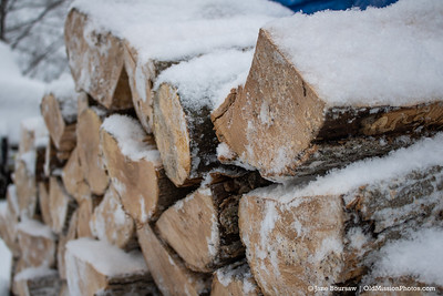 Snow on the Woodpile