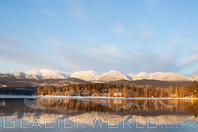 Winter sunset, Whitefish, Montana.