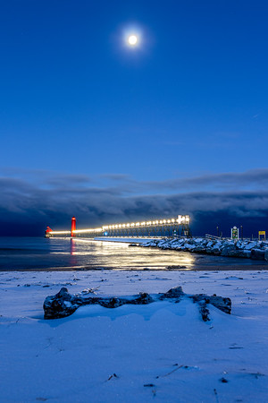 Moon Over Grand Haven