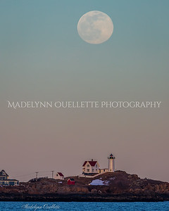 Nubble and Full Snow Moon