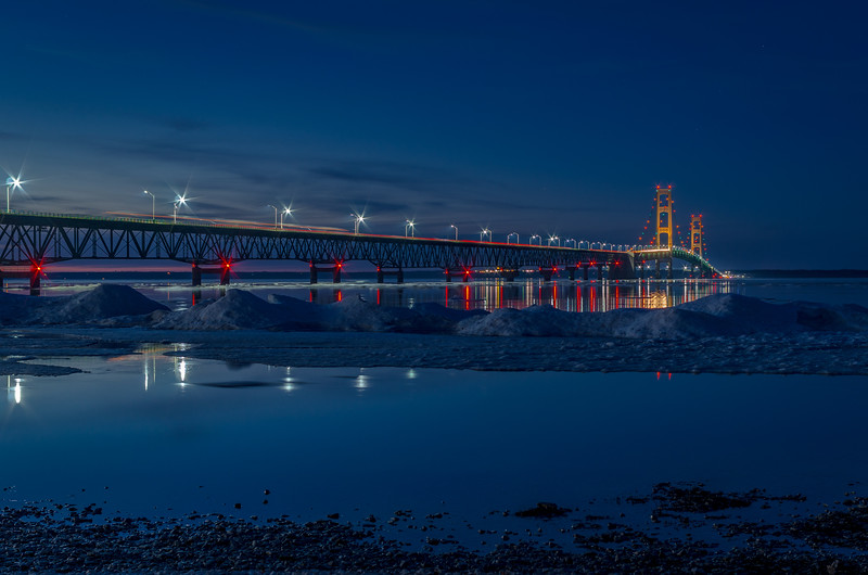 Spring at the Mackinac Bridge
