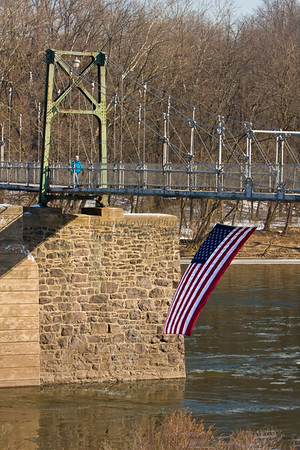 American Flag in Lumberville, PA