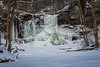 A frozen waterfall at Ricketts Glen State Park.