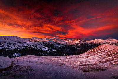 Sunset over Clear Creek | Clear Creek, Colorado