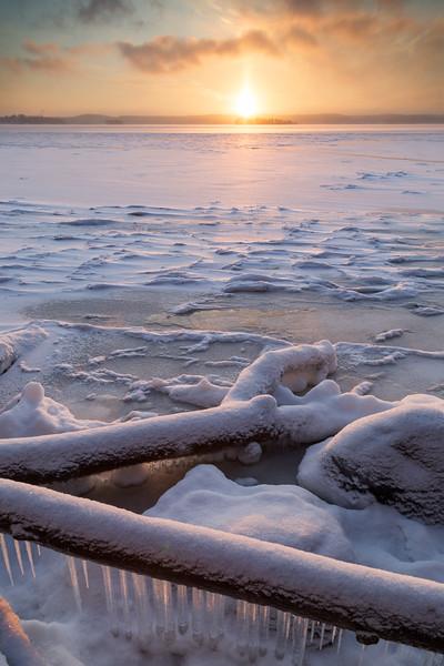 Sunrise at Lake Pyhäjärvi