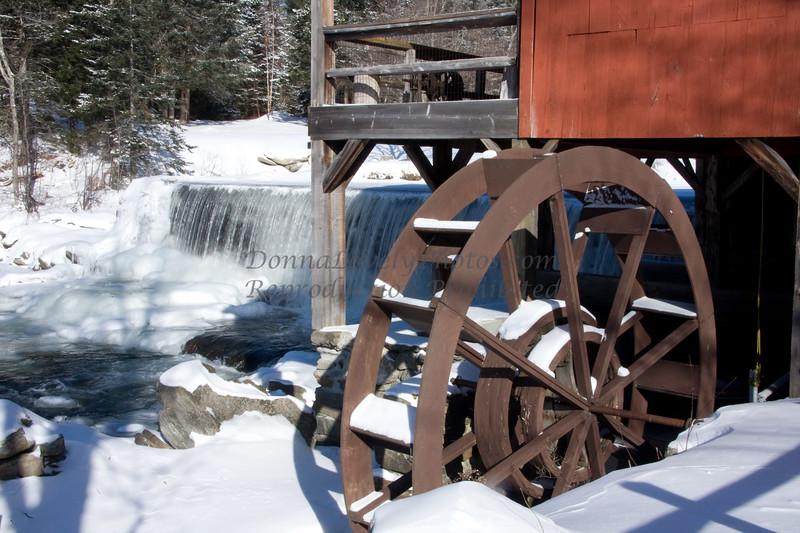 Weston, Vermont Mill Wheel and Waterfall
