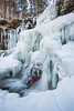 Frozen waterfall at Ricketts Glen State Park.