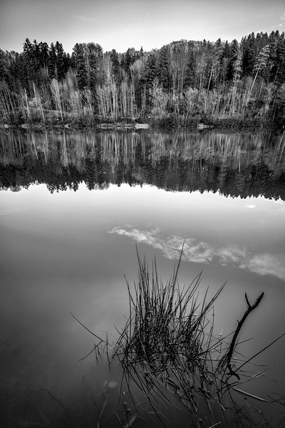 "B&W long exposure at ""Herrenbach Stausee"""