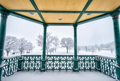 Bandstand Snowstorm