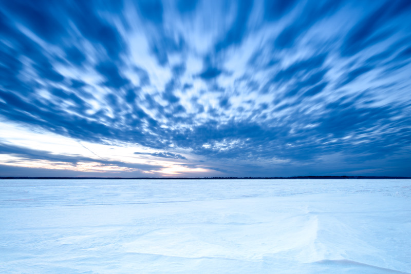 Blue Hour on the Ice at Aylmer Marina