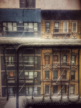 From My Window - A Snowy Day in New York