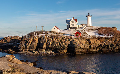 Nubble dressed for the Holidays