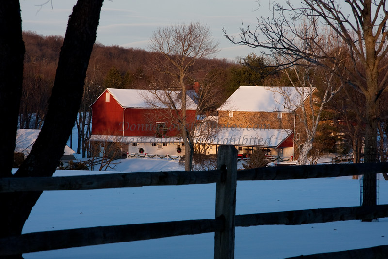 Headquarters Farm in the Snow, Bucks County, PA