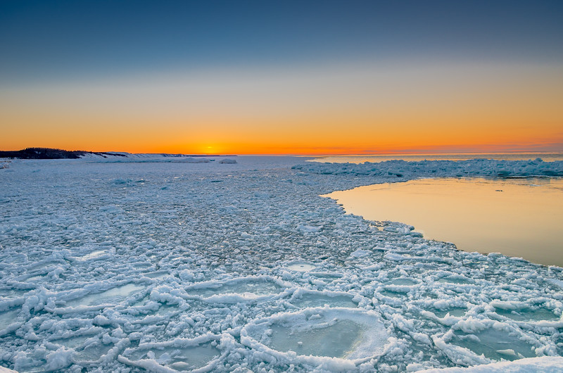 Pancake Ice Sunset