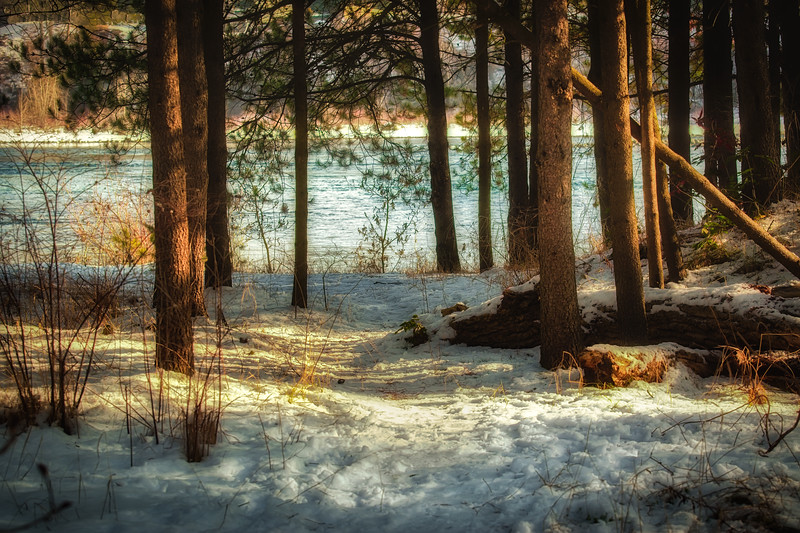 Riverside Snow
