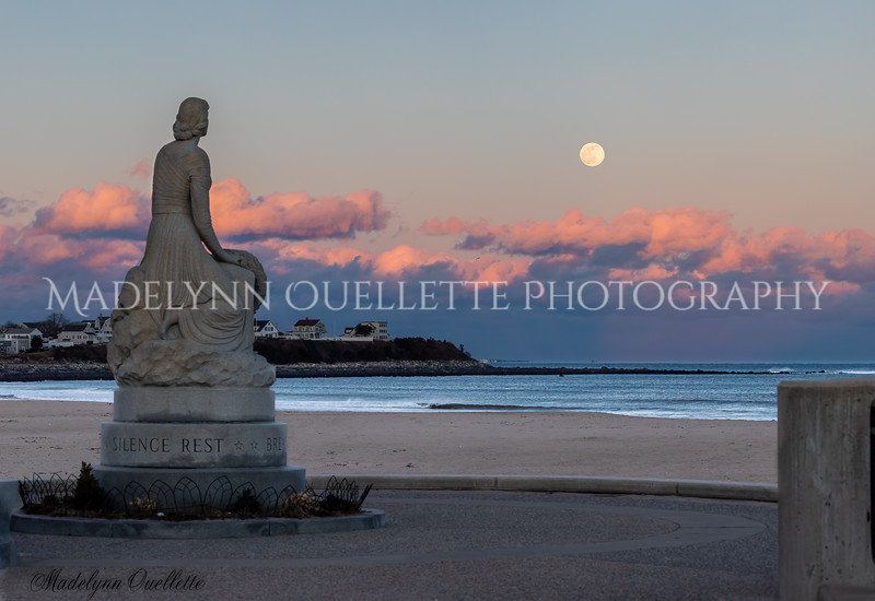 Lady of the Sea Gazing at the Snow Moon