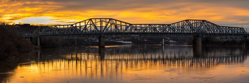 Spanning the Ohio River Panorama