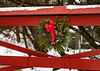 Christmas Wreath on Red Bridge, NH,Pa_12-20-9763©DonnaLovelyPhotos com-